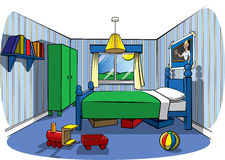 La chambre à coucher des enfants Photos stock