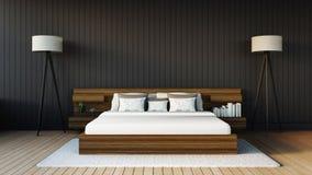 La chambre à coucher moderne Photo libre de droits
