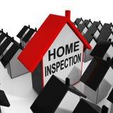 La Chambre à la maison d'inspection signifie l'examen et contrôle la propriété illustration de vecteur