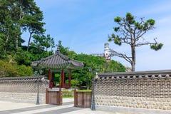 La Chambre d'APEC de Nurimaru placent sur l'île de Haeundae Dongbaekseom à Busan, Corée du Sud Photo stock