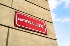 La Chambre dans la rue est nationalisée image libre de droits