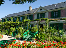 La Chambre de Claude Monet - Giverny, France Photos libres de droits