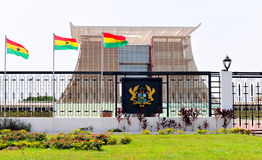 La Chambre de hampe de drapeaux - palais présidentiel du Ghana Photographie stock libre de droits