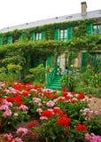 La Chambre de Monet, Giverny Images libres de droits