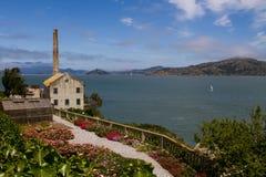 La Chambre de puissance sur l'île d'Alcatraz, San Francisco, la Californie Images libres de droits