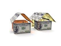 La Chambre des billets de banque sur un fond blanc 3d rendent Photos stock