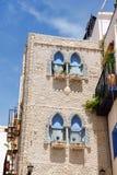 La Chambre des interpréteurs de commandes interactifs dans Peniscola, Espagne Photo libre de droits
