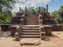 La Chambre du conseil antique du roi sri-lankais dans la ville antique Photos stock