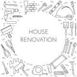La Chambre transforment la bannière horizontale avec schéma outils de bâtiment