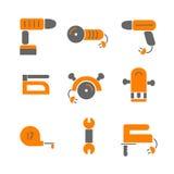 La Chambre transforment Placez les outils des icônes de rénovation de maison Photo stock