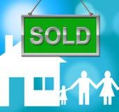 La Chambre vendue représente les propriétés et le pavillon d'affichage illustration stock