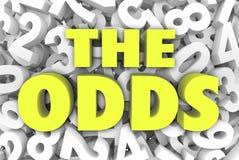 La chance 3d Word marque avec des lettres des occasions de fond de nombre possibles comme illustration de vecteur