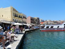 La Chania old harbour Stock Photo