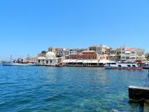 La Chania old harbour Royalty Free Stock Images