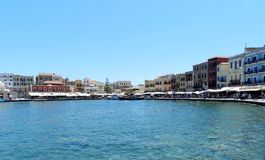 La Chania old harbour Stock Photos