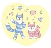 La chanson du chat au sujet de l'amour Images libres de droits