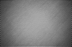 La chapa gris del fondo de la textura perforó Placa de acero con los agujeros stock de ilustración