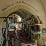 La chapelle dans Axente divisent l'église dans Frauendorf, Roumanie Image stock