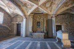 La chapelle de DOS Ossos, Evora, Portugal de Capela d'os images libres de droits