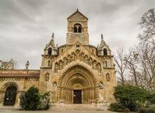 La chapelle de Jak dans le château de Vajdahunyad Budapest, Hongrie Photos stock