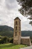 La chapelle de Sant Miquel de Engolasters, Andorre Photo stock