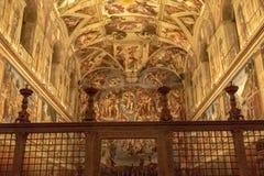 La chapelle de Sistine image libre de droits