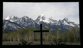 La chapelle de Tetons grand Photos libres de droits