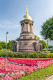 La chapelle de trinité au remblai de Petrovskaya Image stock