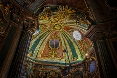 La chapelle du palais national de Queluz images libres de droits