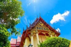 La chapelle du temple de Wat Pho Chai Image libre de droits