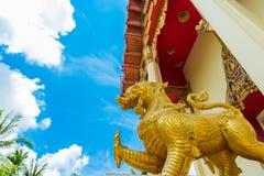 La chapelle du temple de Wat Pho Chai Photos stock