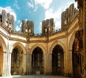 La chapelle non finie du monastère de Batalha, Portugal photographie stock