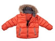 La chaqueta roja de los niños Foto de archivo