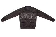 La chaqueta transparente negra se hace de malla fotografía de archivo