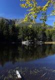 La charca perdida en New Hampshire, los E.E.U.U. Imagen de archivo libre de regalías
