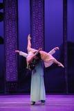 La charge d'amour-Le de l'acte en second lieu des événements de drame-Shawan de danse du passé Photographie stock libre de droits