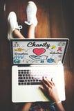 La charité donnent le concept donnant charitable de générosité d'assistance sociale photo libre de droits