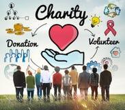 La charité donnent le concept donnant charitable de générosité d'assistance sociale photos stock