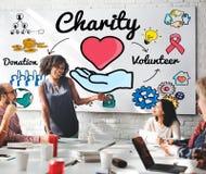 La charité donnent le concept donnant charitable de générosité d'assistance sociale image libre de droits