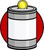 La charité rassemblant la donation peut Images stock