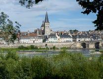 La charite sur de Loire Stock Afbeeldingen