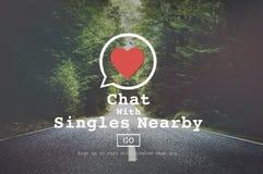 La charla con escoge la estafa próxima de Valentine Romance Love Heart Dating imagenes de archivo