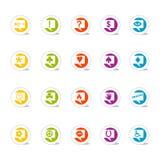 La charla determinada del icono burbujea (vector Libre Illustration