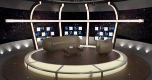 La charla virtual de la TV fijó 20 Fotografía de archivo libre de regalías