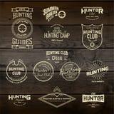 La chasse badges des logos et des labels pour utilisation Photos stock