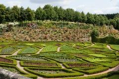 La Chatonniere del jardín y del castillo francés cerca de Villandry Loire Valley fotografía de archivo libre de regalías