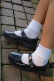 La chaussure de l'écolière thaïe Photographie stock