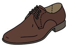 La chaussure en cuir brune illustration de vecteur