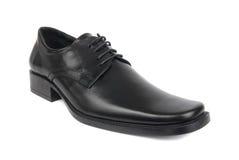 La chaussure noire de l'homme Photo libre de droits