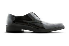 La chaussure noire de l'homme simple Images libres de droits